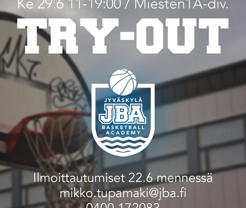 JBA:n try-out 29.6.
